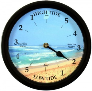 ''Surf'' - 9'' Black Surround Tide Clock