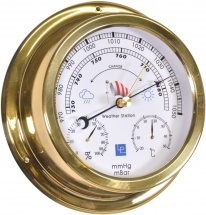 ''Weather Watcher'' 6'' Brass Barometer