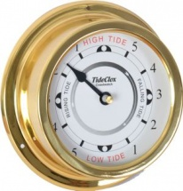Coastwatch Deep Spun-Brass 6'' Surround Tide Clock