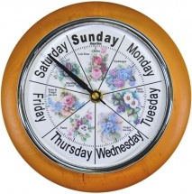 ''Chelsea Floral'' - deluxe Day Clock