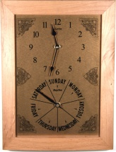 Twin Time & Day A4 Wood Frame Clocks