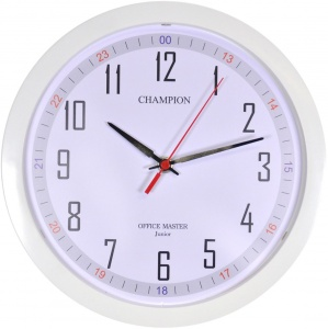 Kitchen Quartz Clock 10'' White 1224 CHAMPION