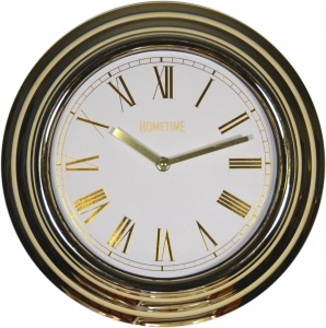 Wall Quartz Clock 12'' Hometime Gold