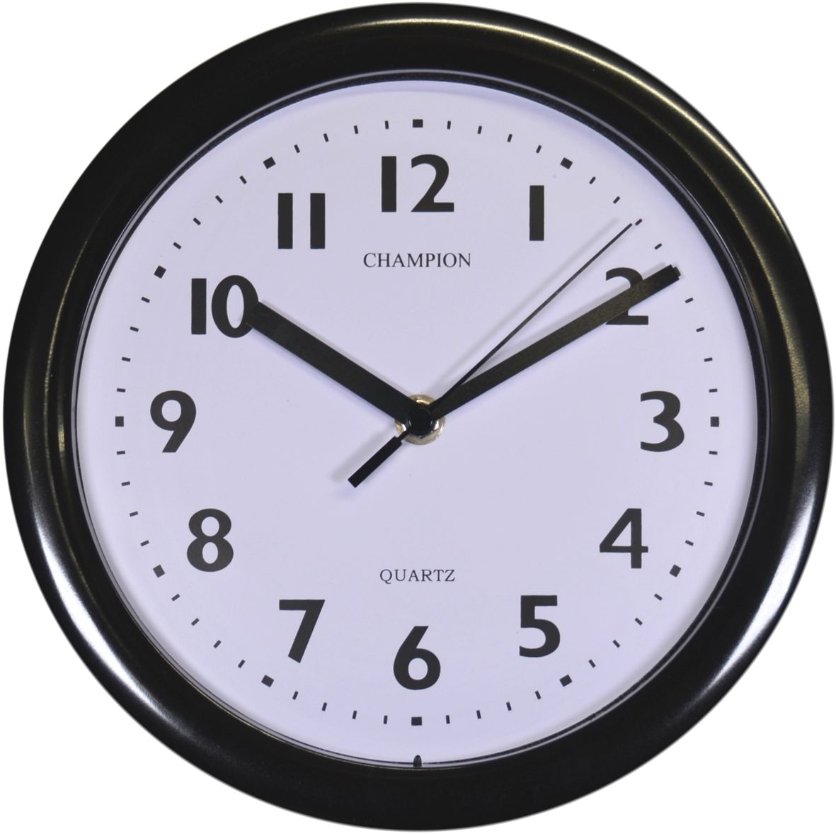 Kitchen Quartz Clock 9'' Black 515 CHAMPION