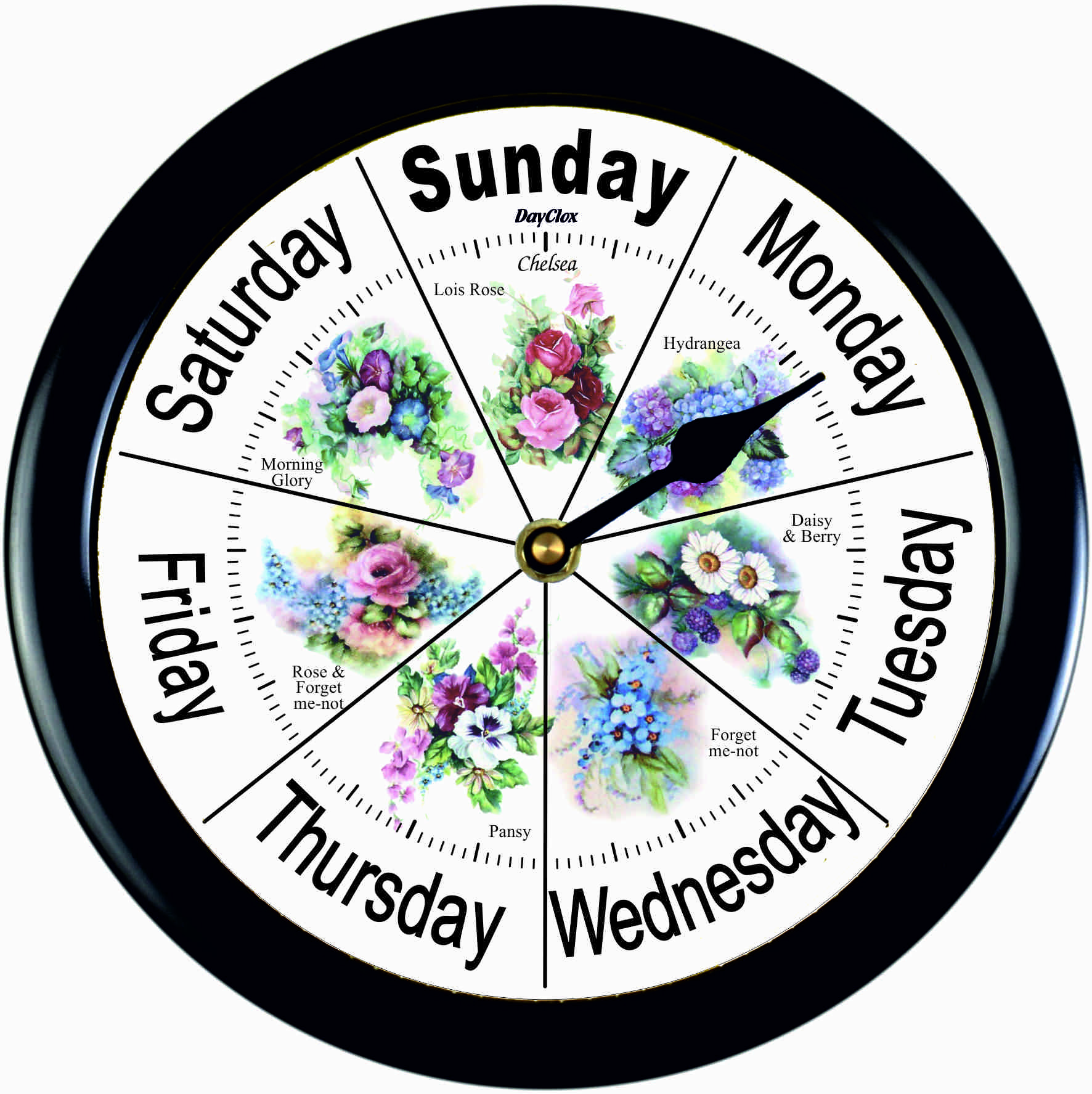Day Clock Chelsea Floral Classic
