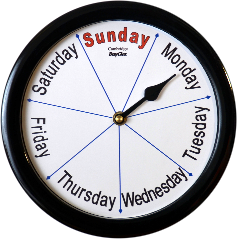 Cambridge  Day Clock with Language Choice