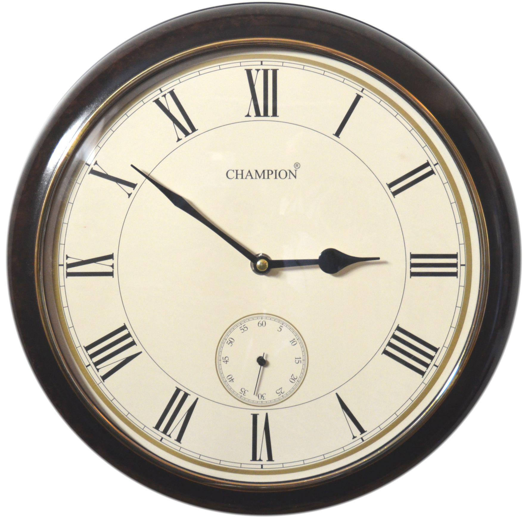 Champion 13'' Marbel/Cream Quartz Clock