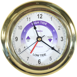 6'' Coastguard SECONDS Brass Time & Tide Clock