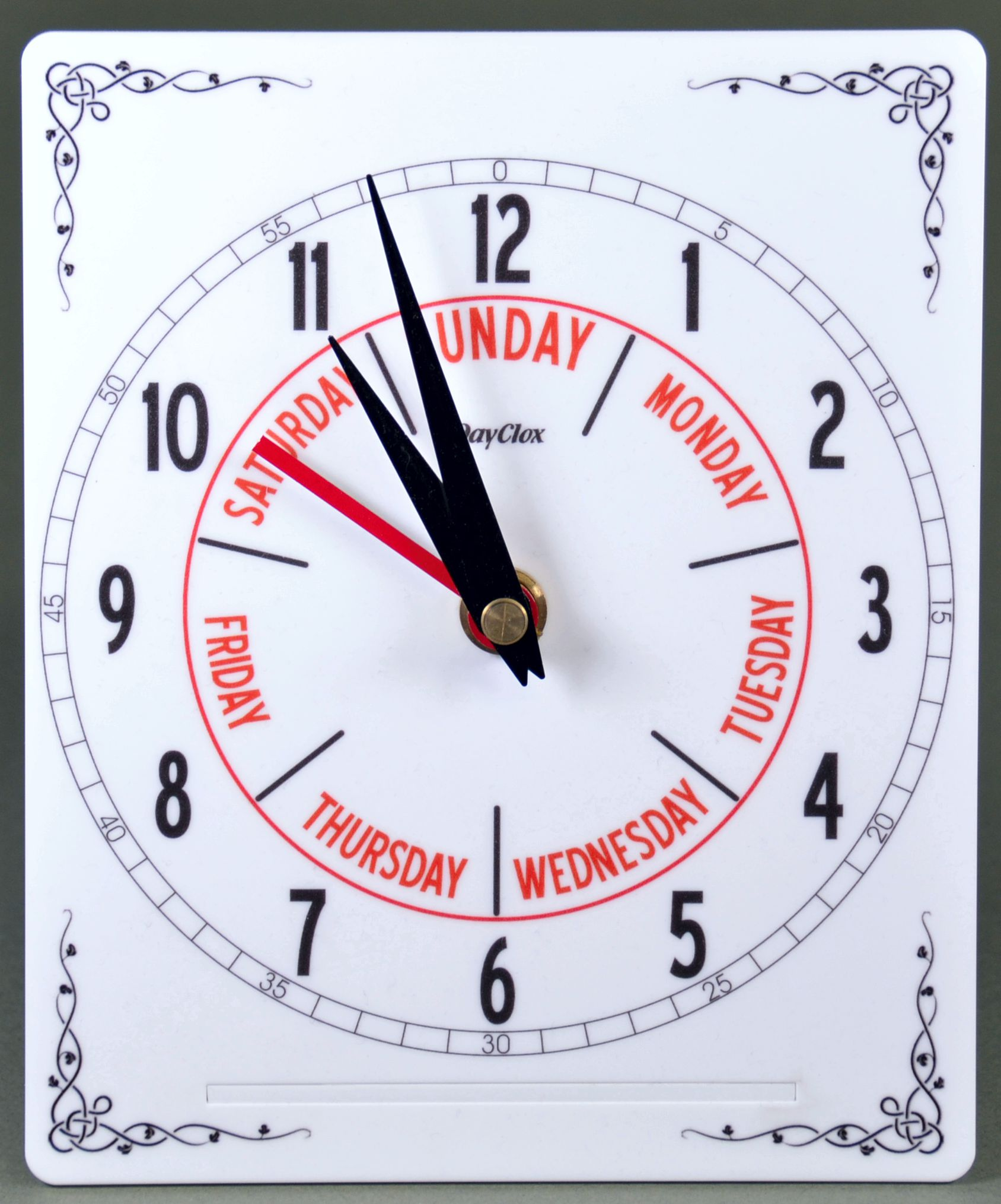 Compact Time & Day Clock