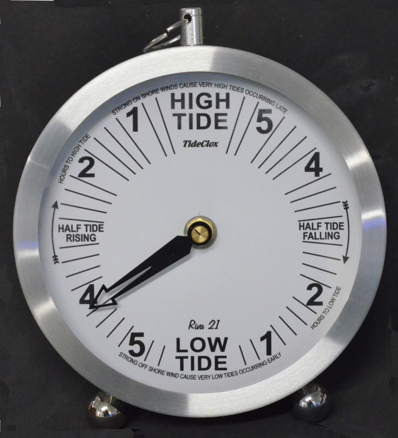 ''Riva-21'' Bedside/Mantle  Tide Clock