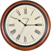 AMMS 12'' Walnut Wood Quartz Clock