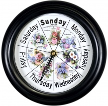 Chelsea Floral Classic 21410 - Day Clock