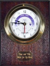 Mounted Brass Time & Tide Clock