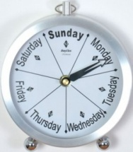 ''Newhaven'' Bedside  Day Clock